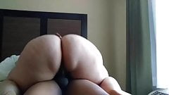 Phat ass accidentally gets a little cum  in her
