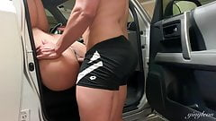 Big ass puertorican gets ass and pussy fucked in garage!!!