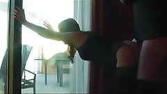 Italian Girl – PAINFUL ANAL fuck at the window